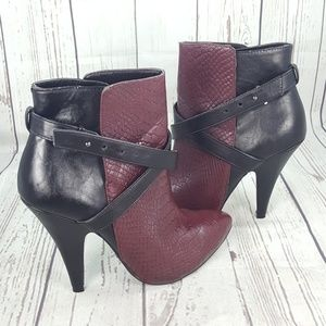 Express Two Tone Ankle Boots